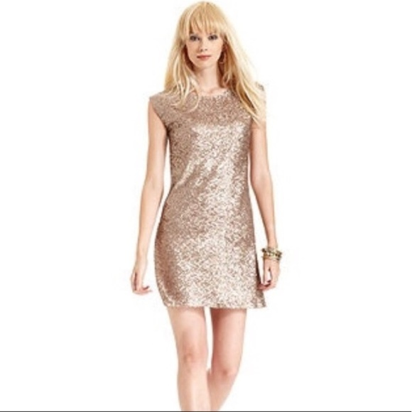 Miss Me Dresses & Skirts - Miss Me Couture Gold Sequin Mini Dress